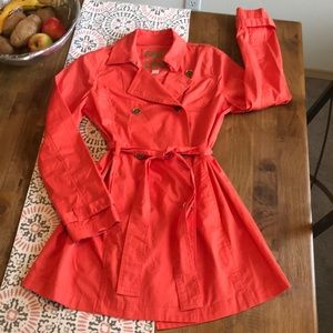 Michael Kors Orange Size Medium Trench Coat.